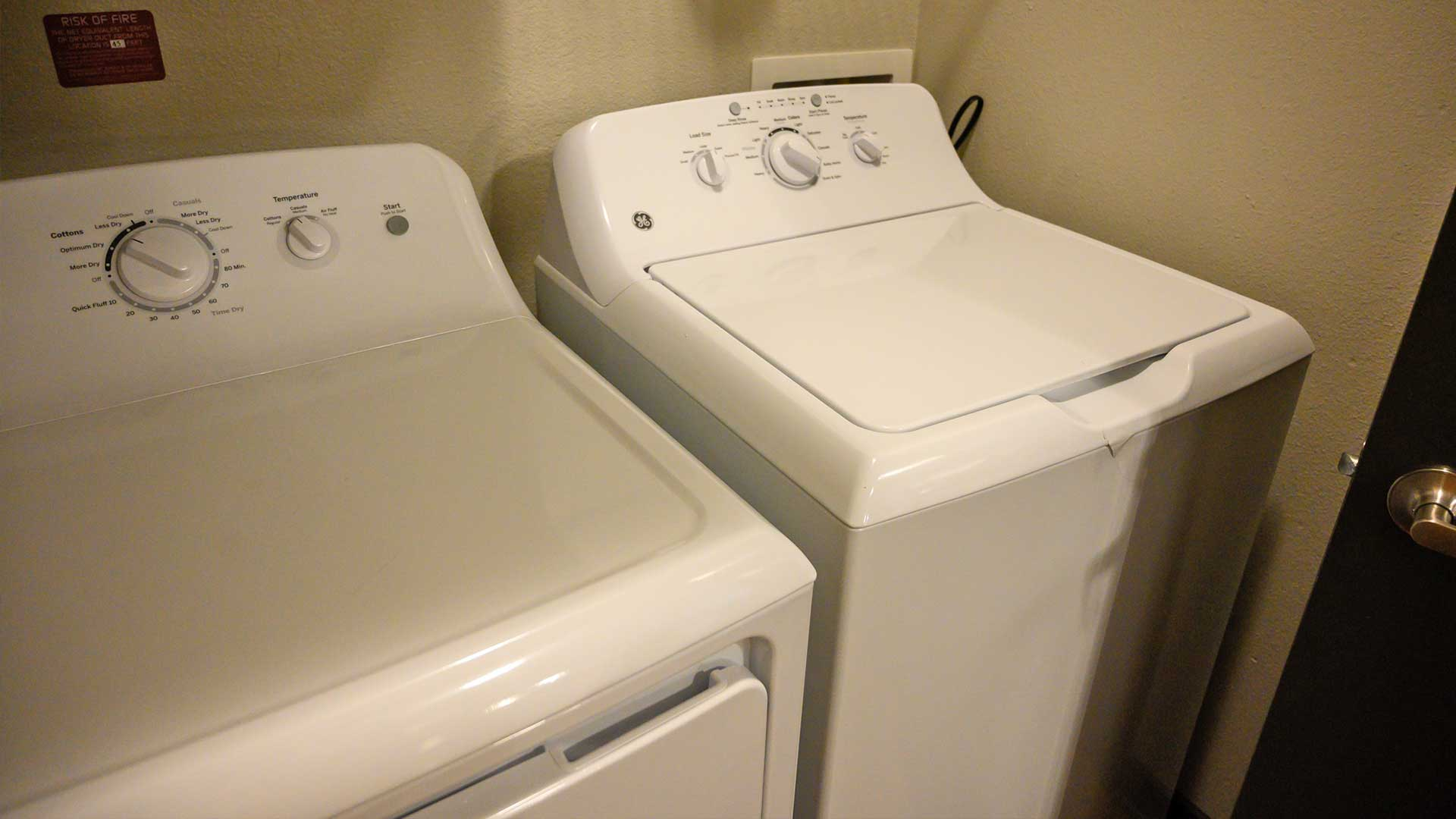 Private washer and dryer in every unit